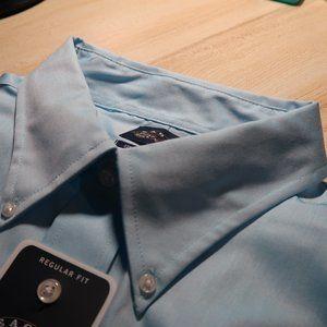 Eagle 18 34/35 XXL regular-fit blue dress shirt